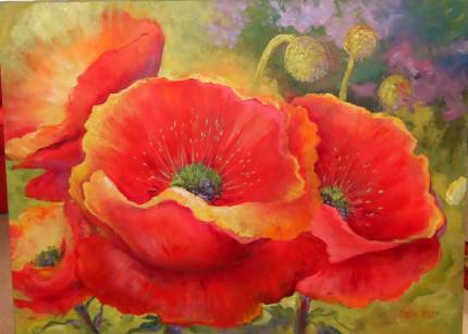 Golden Poppies by Caroline